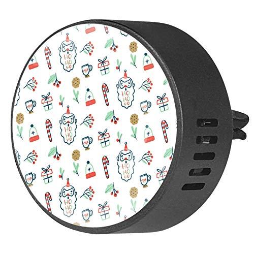 MUMIMI 2 unidades de difusor de aceites esenciales de aromaterapia para coche, ambientador con clip de ventilación – patrón con regalo de Papá Noel