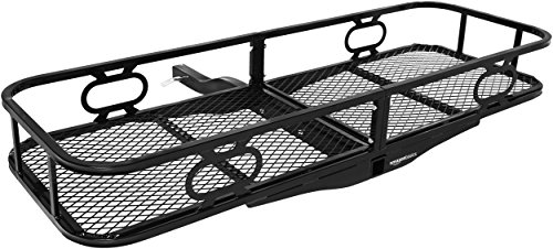 AmazonBasics 60 x 21-Inch Basket Hitch Cargo Carrier, 500 lbs Capacity, Black Steel, 2-in Fixed...