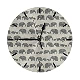 Amboseli Kenya Elephant Parade 壁掛け時計壁掛け インテリア リビング 子供 おしゃれ 掛け時計 デジタル 無音 電池式 静か