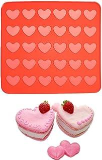 LLAAIT 1 pièces Silicone Moule de Cuisson Feuille Tapis Forme de Coeur Macaron Biscuit Four Tapis Cuisine Bricolage Cuisso...