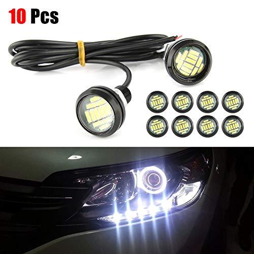 LED Eagle Eyes Maso 2 Pcs 12V 9W Car Daytime Running DRL Tail Light Backup Lamp Reversing with Screw For Motorcycle Cars Blue