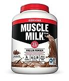 Muscle Milk Genuine Protein Powder, Chocolate, 32g Protein, 4.94 Pound