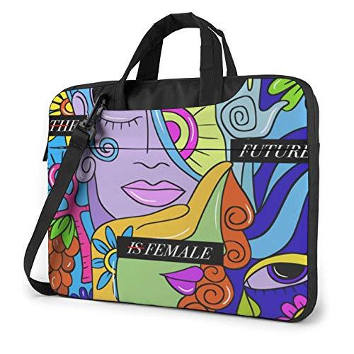 Laptop Messenger Laptop Bag Mujer Equal Right is Future Bolso de Hombro Maletín Oficina Funda para portátil Funda Satchel Tablet para Hombres Mujeres