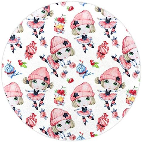 Round mat All Weather Indoor Outdoor Rugs for Living Room and Dining Room Indoor or Outdoor product image
