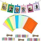 Cornice di Carta per Foto,DIY Album Portafoto 30 Pezzi 10 Colori Cornici Carta per Foto So...
