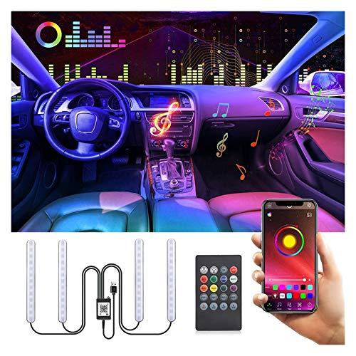 WlP Iluminación Interior LED RGB para Automóvil con Aplicación Iluminación LED para El Espacio para Los Pies del Automóvil Tira Interior del Automóvil