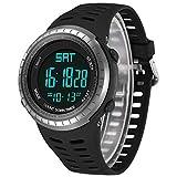 Reloj de Pulsera Digital Deportivo Hombre para Actividades Al Aire Libre, LED Luz de Fondo Relojes Electrónicos Resistente Al Agua , Cronógrafo