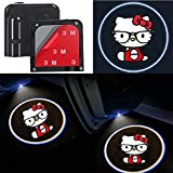 2Pcs for Car Door Lights Logo for Hello Kitty, Car Door Led Projector Lights Shadow Ghost Light,Wireless Car Door Welcome Courtesy Lights Logo for All Car Models(forHello kitty)