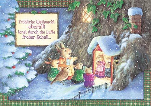Weihnachten Überall: Grußkarten mit Prägung (Holly Pond Hill)