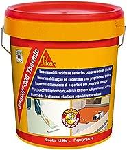 SikaFill 300 Thermic, Revestimiento elástico para impermeabilización con propiedades térmicas, 12kg, Blanco