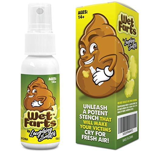 Wet Farts - Potent Ass Fart Spray - Extra Strong Stink - Hilarious Gag Gifts & Pranks for Adults or Kids - Prank Poop Stuff & Assfart Spray - Non Toxic - Smells Like Really