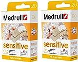 Medrull Sensitive 40 Piezas Sensible Esterilizados Apósitos Extra Suave 20 x 2 Cajas