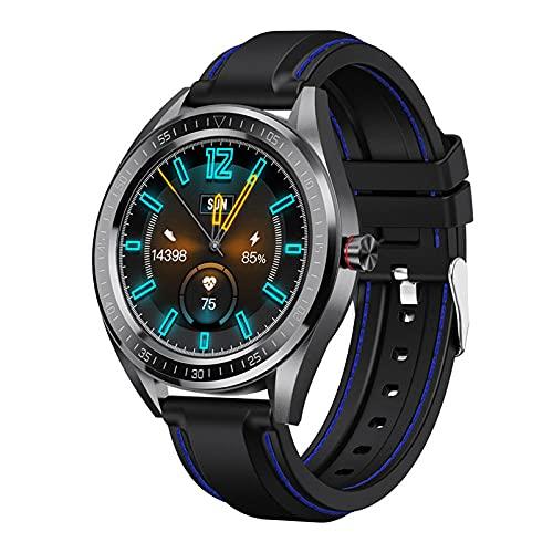 LKXL Smartwatches Pulsera Inteligente Ejercicio Completo de la presión Arterial del Ritmo cardíaco del Estado del Tacto Completo Redondo
