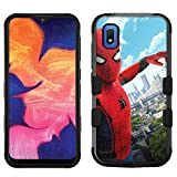 for Galaxy A10e, Hard+Rubber Dual Layer Hybrid Shockproof Rugged Impact Cover Case - Spiderman #ZP