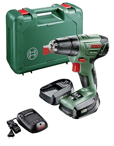 Bosch PSR 1440 LI drill Ohne Schlüssel Schwarz, Grün, Rot - Drills (8 mm, 2,5 cm, 28 Nm, 28 Nm, 12 Nm, 400 RPM)