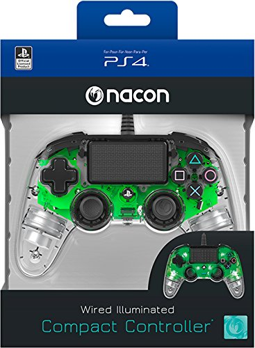 Controller Wired a luce verde per PS4 Nacon