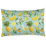 Wen-shop Limón Plátano Piña Cubiertas de Almohadas Fundas de Almohadas Decorativas, Fundas de Almohadas con Cremallera Oculta