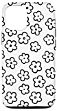 iPhone 12/12 Pro Cute Flower Pattern Wildflower Black and White Floral Case