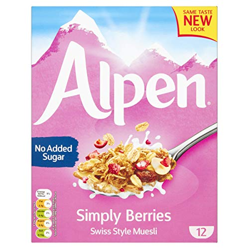 Alpen No Added Sugar Simply Berries 550g (Pack of 6)