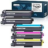 OfficeWorld Cartouche de Toner Compatible Brother TN247 TN243 TN-247 TN-243 para Brother DCP-L3550CDW DCP-L3510CDW, HL-L3210CW HL-L3230CDW HL-L3270CDW, MFC-L3750CDW MFC-L3710CW MFC-L3730CDN L3770CDN