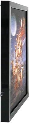 Kurt S. Adler Kurt Adler 15.7-Inch Battery-Operated 3D LED Framed Christmas Santa and Sled Art Décor, Multi