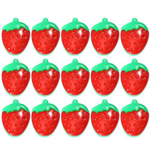 LUOEM 100 Stück Plastikknöpfe Erdbeer Design Nähen Handwerk Knöpfe DIY Knöpfe Dekor zum Nähen von Kleidung Schuhe Und Hüte