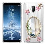 Sunrive Für HOMTOM S8 Hülle Silikon, Glitzer Diamant Strass Transparent Handyhülle Schutzhülle 3D Etui handycase Hülle (Spiegel) MEHRWEG