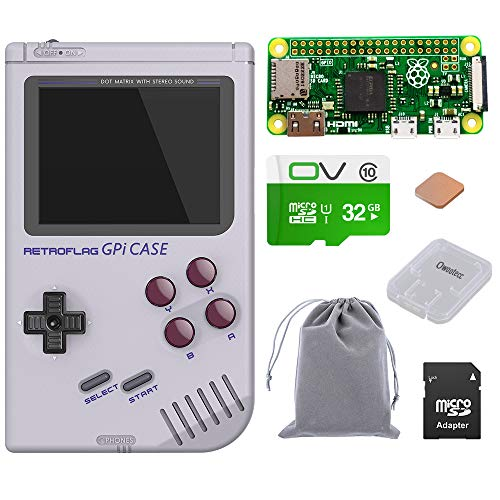 owootecc Retroflag GPi Case per Raspberry Pi Zero e Zero W con Safe Shutdown (Case with 32G Zero W)