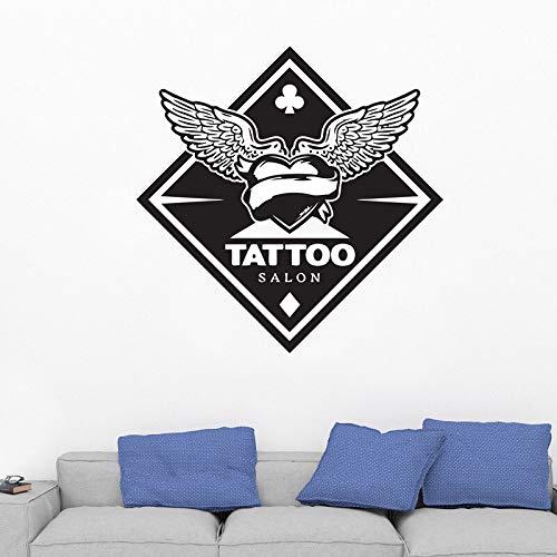 zhuziji Trolle Wandaufkleber Frau Mrs Tattoo Wings Tattoo Snordic Schlafzimmer, Campus, Kindergarten Mit Vinyl Pvc42x42cm