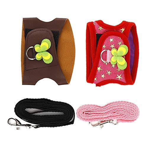 2 Pcs Chinchilla Harness and Leash Small Pet Walking Harness No Pull Vest Harness for Guinea Pigs Ferret Squirrel Hamster and Similar Small Animals(S)