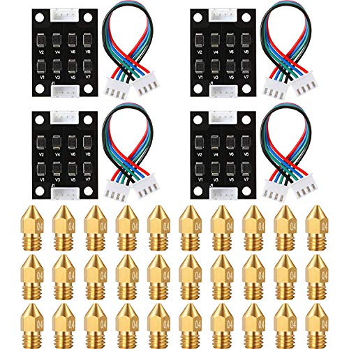 Fransande 4 Packs TL Smoother Addon Module 3D Printer Accessory Filter for Pattern Elimination 30Pcs 3D Printer Extruder Nozzle
