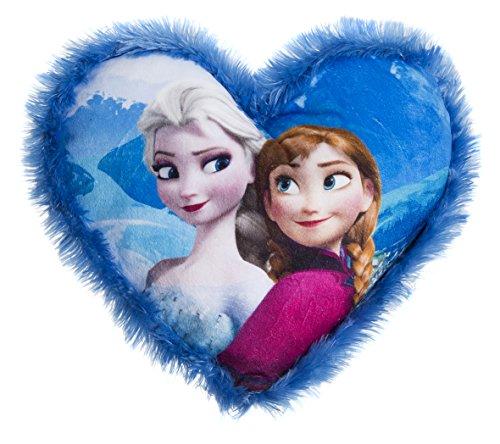 Desconocido Dormitorio Productora 15619.0 del niño Almohada Multicolor Poliéster 33 x 20 x 10 cm - Cojín Frozen Corazón Elsa y Anna, Juguete Peluche Hogar A Partir de 4 años A Partir de 6 años