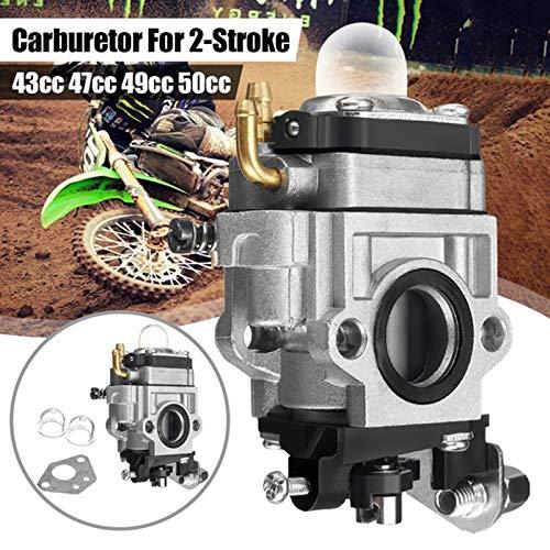 xingyu Carburador 15 mm for Durante 43 carburador 47 49cc 2 Tiempos Motos Vespa de la Suciedad de Bolsillo de la Motocicleta en carbohidratos (Color : Gray)