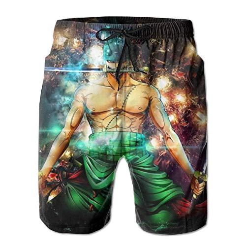 Niconeg Big Boys - Pantalones cortos de playa de secado rápido con forro de baño para playa