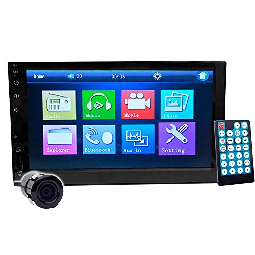 VAK Autoestereo 6911 Touch 7 Mirrorlink Bluetooth con cámara de reversa, USB SD MP5 Video