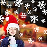 HZDXT 1 Set Christmas Snowflake Sticker, Christmas Christmas Wall Stickers, Windows Kids Room Decorations For Home New Year Decor Supplies