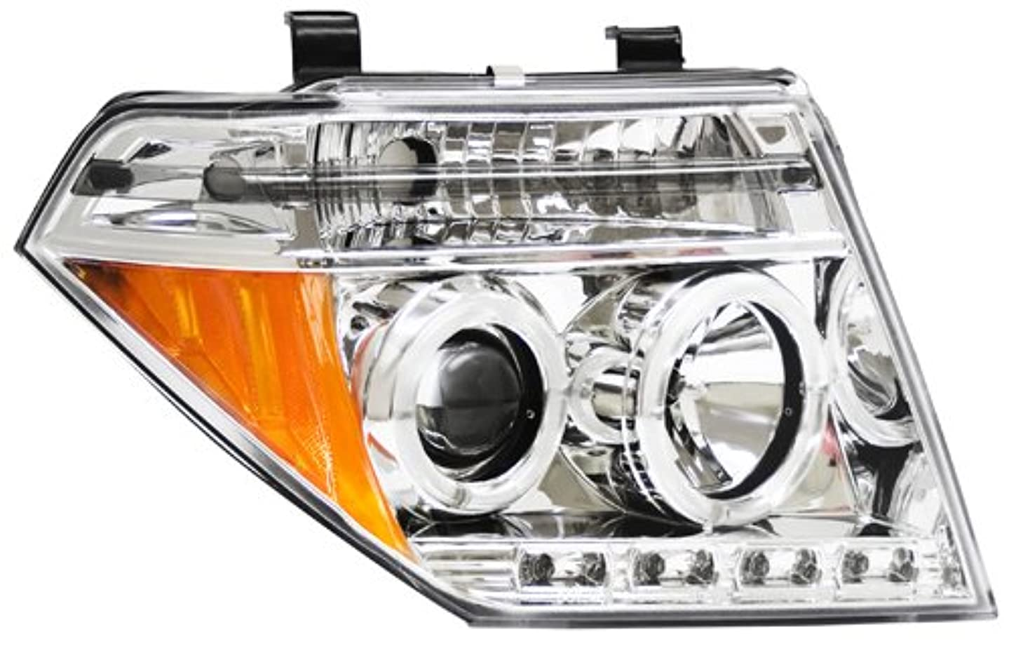 IPCW CWS-1009C2 Nissan Frontier Chrome Projector Head Lamp with Rings - Pair