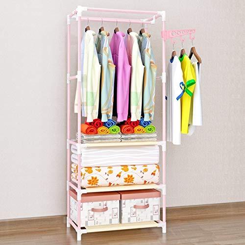 Haak om op te hangen, inklapbaar, met praktisch ophangsysteem, hookstainless staal, voor veel winkels. Roze