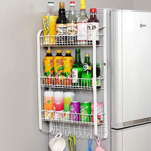 Küchenaufbewahrung, Küchenregal, Kühlschrank, Seitenaufbewahrungsregal für Küche, Aufbewahrung, Wickelregal, Organizer, Küchenkommode & Sideboards, Besteckregale