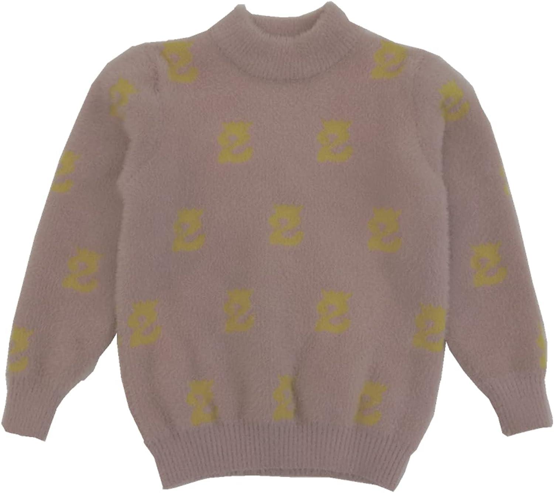 通用 ANYANA Girls Pullover Mink Jacquard Sweater (Pink, 17)