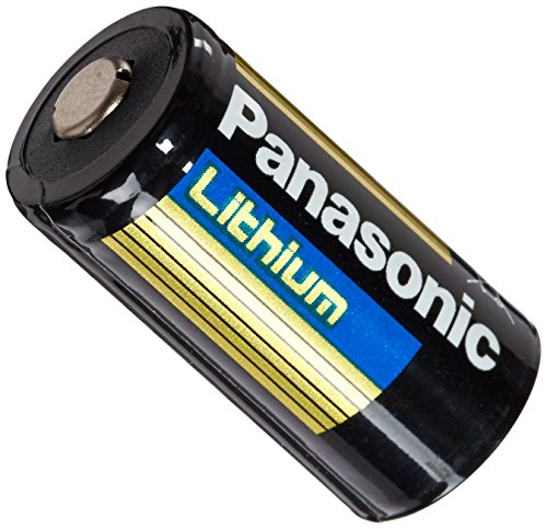 Panasonic CR123A-12PK Lithium 3V Photo Lithium Battery, 0.67' Diameter x 1.36' H (17.0 mm x 34.5 mm), Black/Gold/Blue (Pack of 12)