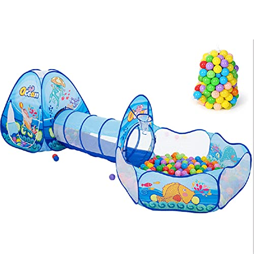 LXF JIAJU Tienda Infantil Interior Y Al Aire Libre Ocean Pool Bee Tunnel Crawling Tube Toy House One More Fácil De Usar (Color : 3 in 1)