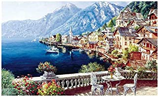 Jigsaw Puzzles for Kids & Adult - 1000 Pieces Seaside Town Puzzle - Family Funny Decompression Games