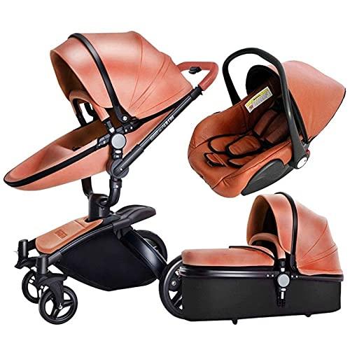 JAKWBR Carriaje de bebé Querido Cochecito de bebé 3 en 1 Cochecito liviano PRAM, Cochecito de Viaje Compacto, una Mano Plegable