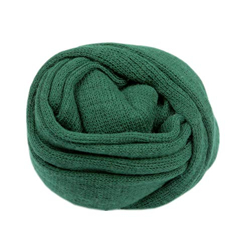 Newborn Baby Photo Props Blanket Stretch Knitted Wrap Swaddle for Boy Girls Photography Shoot (Green)