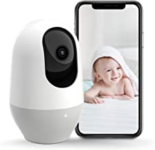 Nooie Baby Monitor, WiFi Pet Camera Indoor, 360-degree Wireless IP Nanny Camera, 1080P Home Security Camera, Motion Tracking, IR Night Vision, Works with Alexa, Two-Way Audio