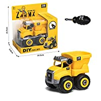 ナット解体ロードアンロードエンジニアリングトラックショベルブルドーザー子ネジ少年クリエイティブツール教育おもちゃの車のモデル