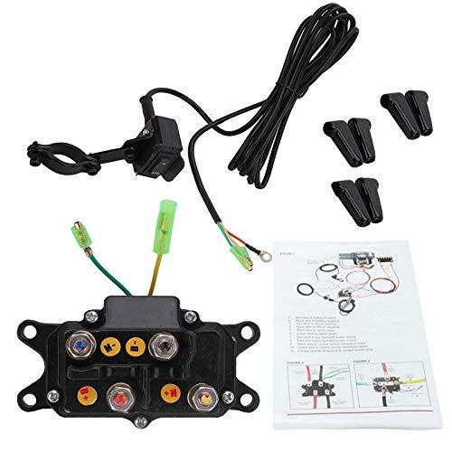 KanSmart 12V Solenoid Relay Contactor & Winch Rocker Thumb Switch Combo Compatible with ATV UTV 1500lb-5000lb Polaris 800 1000
