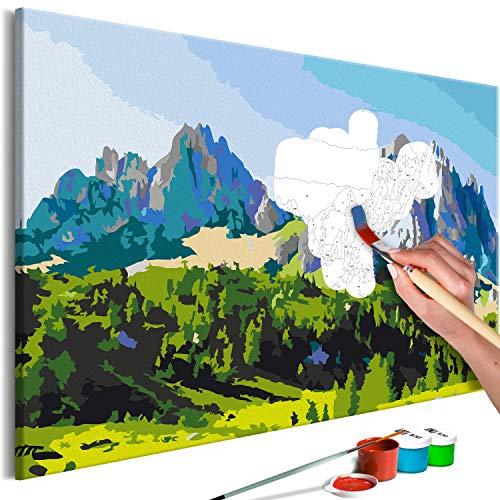 Cuadros Para Pintar Por Numeros Con Marco Montaña cuadros para pintar por numeros  Marca murando