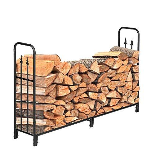 FRITHJILL 72.44 Inch Firewood Racks, Wood and Kindling Storage Holder, Iron Wood Storage Log Rack Holder